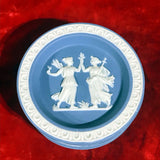 Set of 4 Wedgwood Style Blue Plate Tray