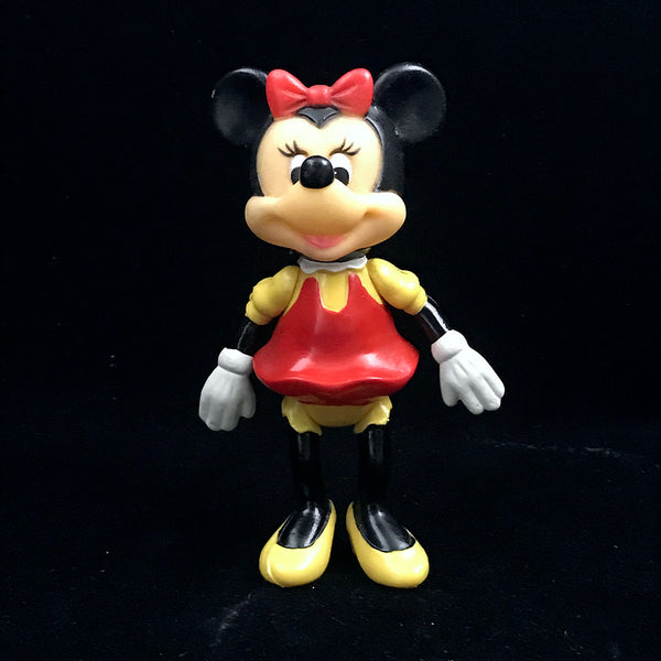 Walt Disney Production Mickey Mouse Rubber Plastic Figurine Vintage
