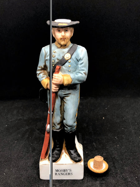 MOSBY'S RANGER 2oz Decanter Mini Soldier (1975)