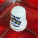 Sweden porcelain souvenir Thimble Collectible Thimble Vintage