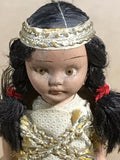 Native American Girl Figurine Vintage