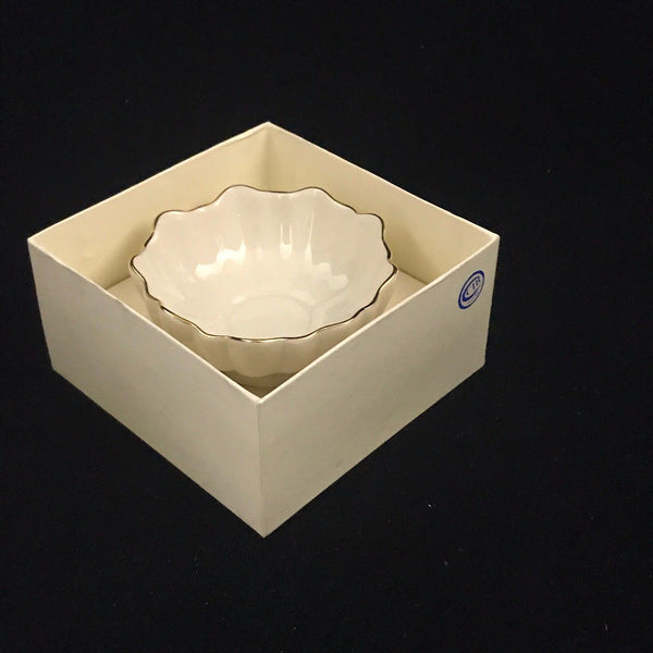 Decorative Lenox Handcrafted Bowl with Box. Golden Rim
