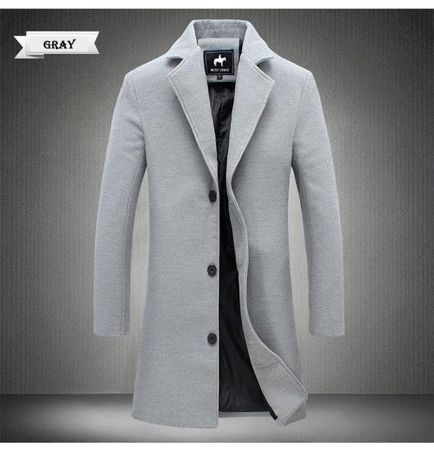 West Louis™ Business-Man Windproof Long Coat  - West Louis