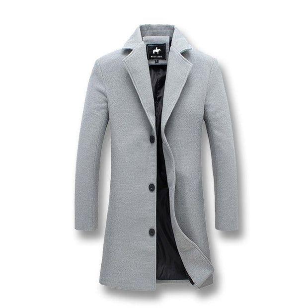 West Louis™ Business-Man Windproof Long Coat Gray / XXXL - West Louis