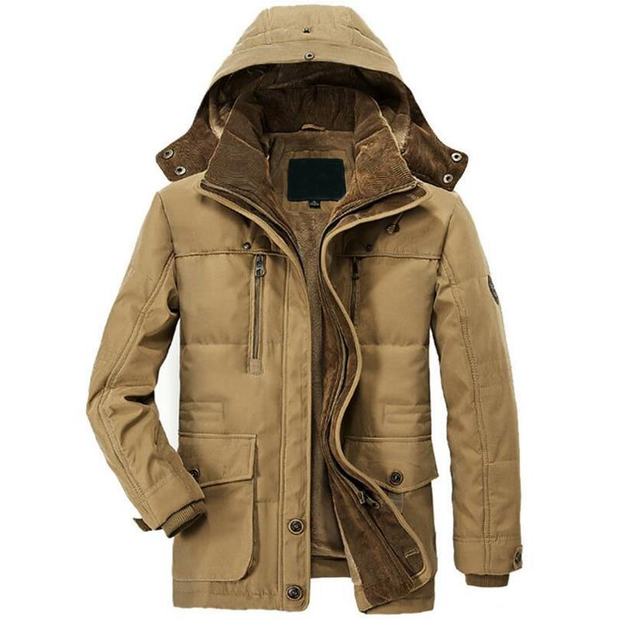 West Louis™ Detachable Hat Wool Liner Parka