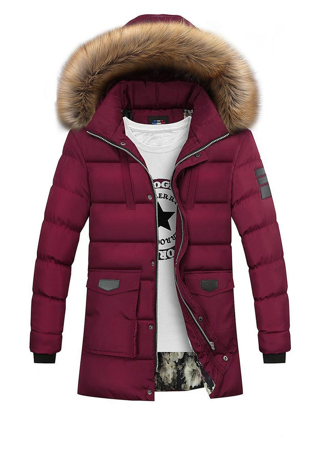 West Louis™ Winter Fur Jacket Bio Down Parkas Red / XXL - West Louis