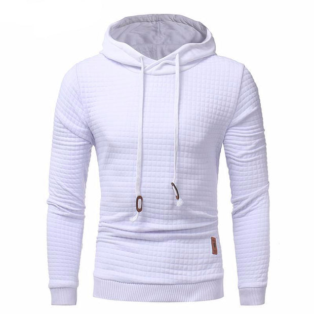 West Louis™ Autumn Solid Color Hoodie White / L - West Louis