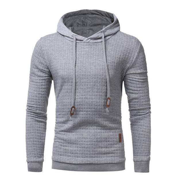 West Louis™ Autumn Solid Color Hoodie Light Gray / L - West Louis