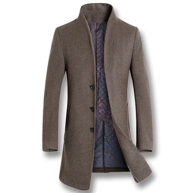West Louis™ Winter Woolen Long Peacoat