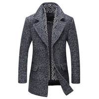 West Louis™ Men Long Wool & Blends Winter Coat
