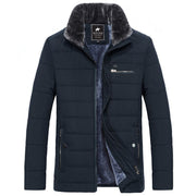 West Louis™ Men's Cotton Padded Thick Warm Jacket