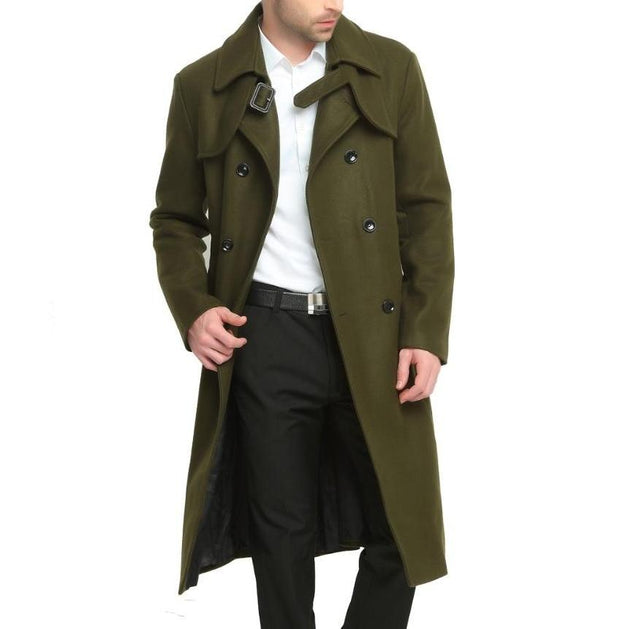 West Louis™ Classic Men Double Button Woolen Coat