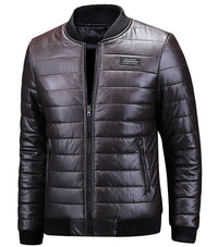 West Louis™ Designer Winter Warm Leather Jacket