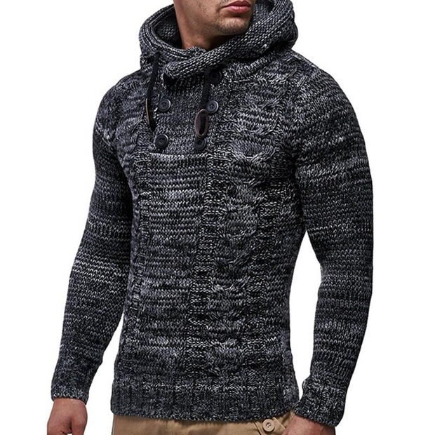 West Louis™ Knitted Turtleneck Top Sweater Hoodie