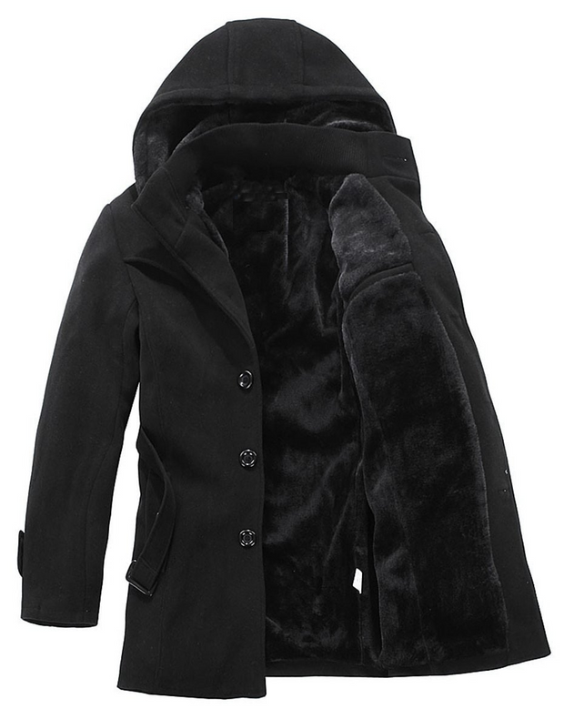West Louis™ Fashion Thicken Weigh Wool Business Coat