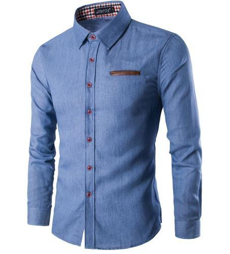 West Louis™ Business Luxury Cotton Shirt Light blue / M - West Louis