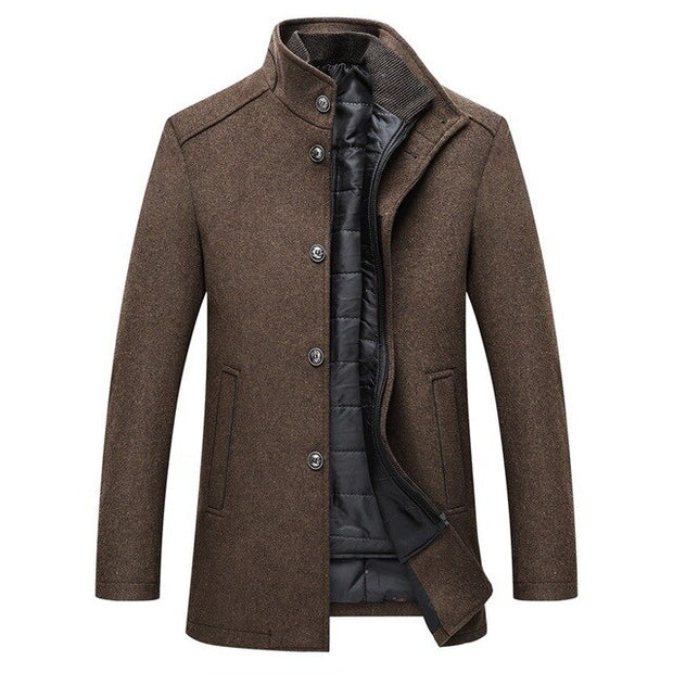 West Louis™ Single Breasted Thick Wool Coat