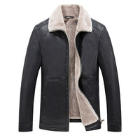 West Louis™ Thickened Lapel Leather Jacket