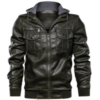 West Louis™ Military Style Leather Jacket