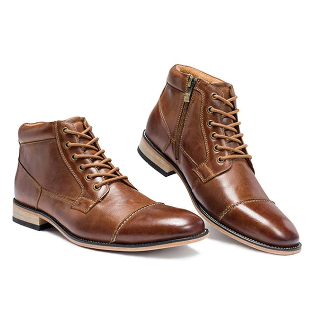 West Louis™ Vintage Fashion Brand Leather Boots