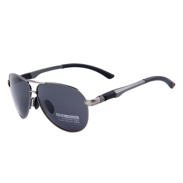 Black And Gray Aviator Sunglasses Black - West Louis