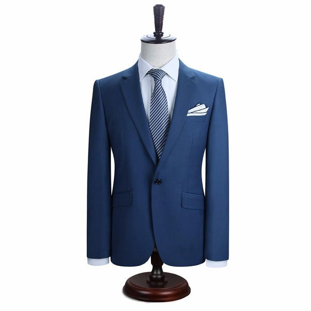 West Louis™ New York Slim Fit One Button Suit ( Blazer + Pants)  - West Louis