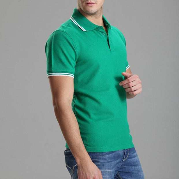 West Louis™ Solid Casual Polo Shirt  - West Louis