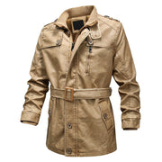 West Louis™ Autumn&Winter Season Business Leather Coat