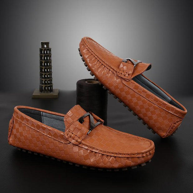 West Louis™ Casual Leather Hand Made Moccasins