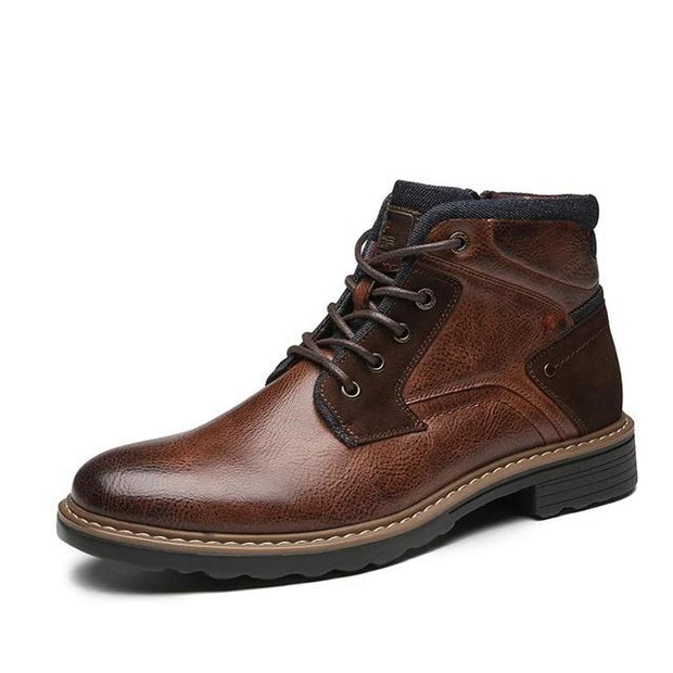 West Louis™ Real Male Leather Ankle Botas