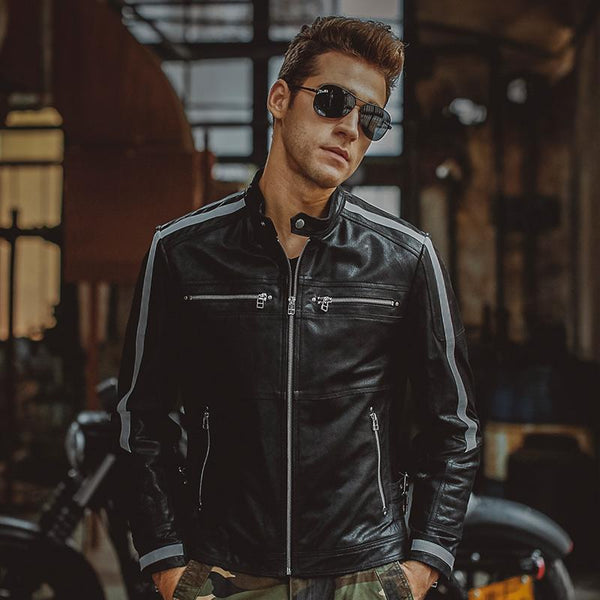 West Louis™ Genuine Leather Bikers Jacket