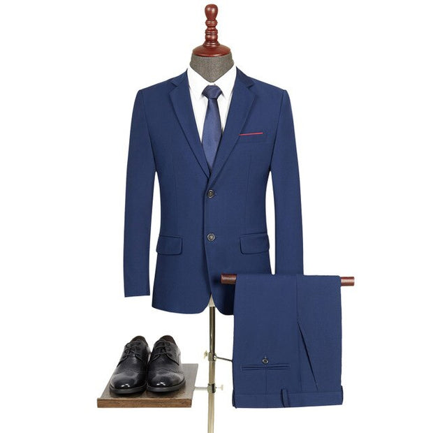 West Louis™ Slim Fit Elegant Business Style 2 Piece Suit