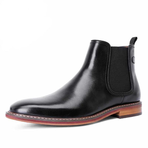 West Louis™ Men's Calf Leather Ankle Martin Chelsea Boots
