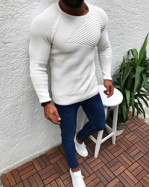 West Louis™ Winter Slim Fit Sweater