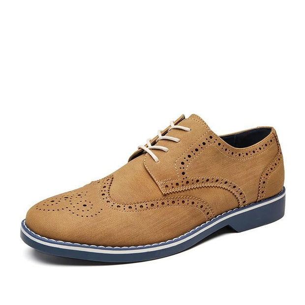 West Louis™ Brogue Style Suede Dress Shoes