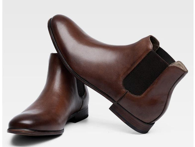 West Louis™ British Style Chelsea Leather Boots
