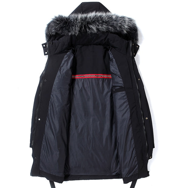West Louis™ Winter Warm Heavy 80% Down Fur Hood Parka