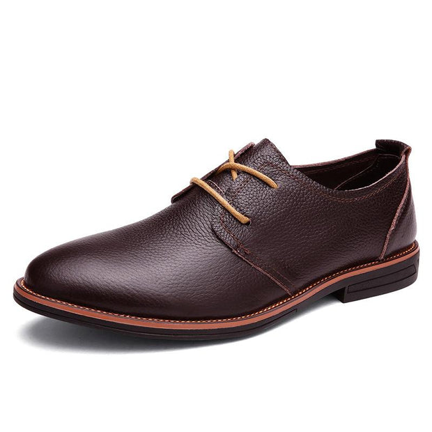 West Louis™ Oxfords Genuine Leather Formal Shoes  - West Louis