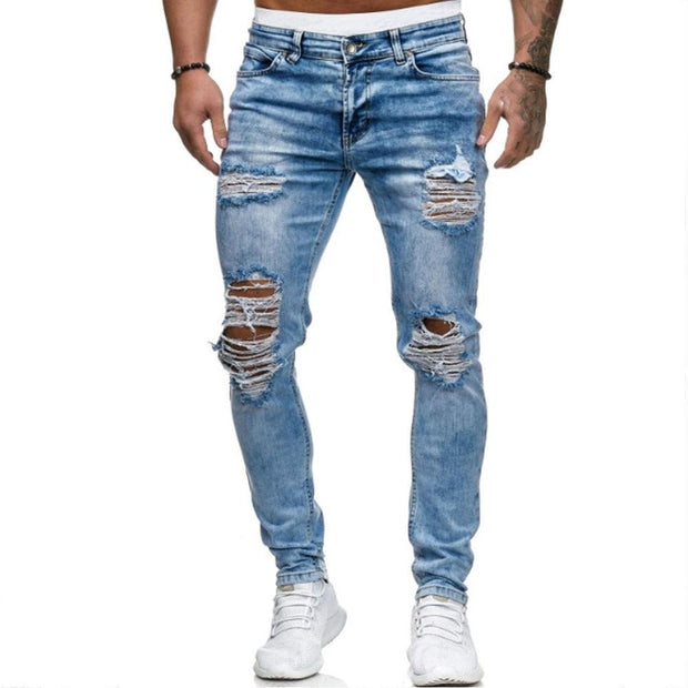 West Louis™ European & American Style Ripped Jeans