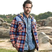 West Louis™ Fleece Pure Cotton Plaid Jacket
