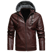 West Louis™ Biker Style Motorcycle Leather Jacket
