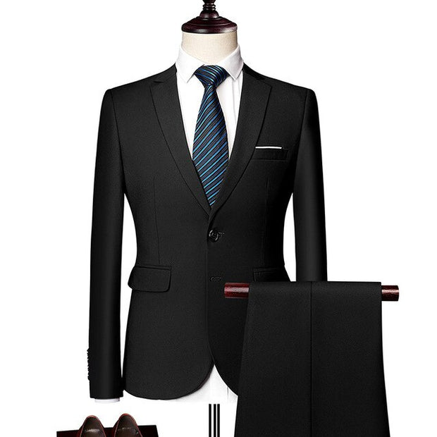 West Louis™ Elegant Business-Men Style One Button 2 Piece Suit