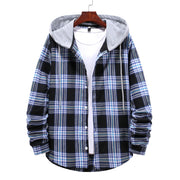 West Louis™ Street Hooded Plaid Shirt