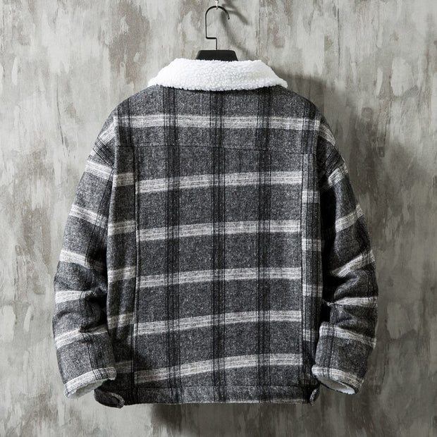 West Louis™ Winter Flannel Plaid Cotton Jacket
