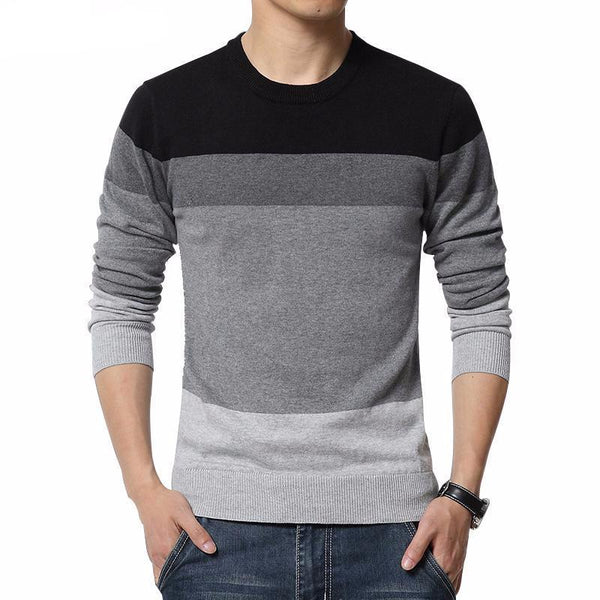 West Louis™ Casual O-Neck Sweater Pullover