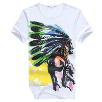 West Louis™ American Indian Swag T-Shirts White / M - West Louis