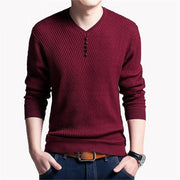 West Louis™ V-Neck Niko Pullover Red / S - West Louis