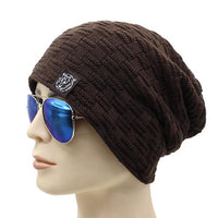 West Louis™ Knitted Fur Beanie coffee - West Louis