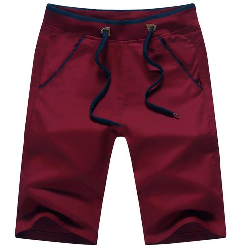West Louis™ Mid Straight Thin Men's Beach Shorts Red / S - West Louis