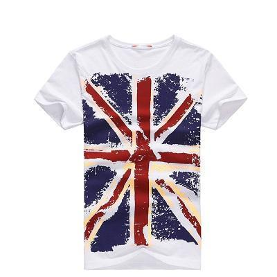 West Louis™ Hot England Style Slim Fit T-Shirts White / M - West Louis